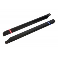 Carbon Style Plastic Main Rotor Blades 325mm for EP450 Helicopter