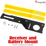 DragonSky (DS-FPV-BM) Receiver and Battery Mount for FPV 7 Inches LCD Monitor