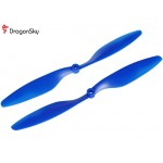DragonSky (DS-P-1045-B) Multirotor 10*4.5 Clockwise and Counter Clockwise Propeller Set (Blue)