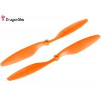 DragonSky (DS-P-1045-O) Multirotor 10*4.5 Clockwise and Counter Clockwise Propeller Set (Orange)