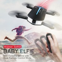 JJRC H37 MINI Baby ELFIE G-Sensor Control Selfie DRONE - Altitude Hold 720P HD Camera WIFI FPV Foldable Pocket  FPV RC Quadcopter