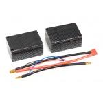 BatteryHobby (BH-5700mAh-25C-7.4V-HCS) 5700mAh 25C 2S 7.4V Hard Case Saddle Pack Lipo Battery Pack