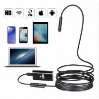 Wifi Endoscope Camera Android 720P 8mm 2m Cable Snake Flexible Usb Endoscope For Iphone Borescope Camera Endoscopio