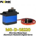 Fusonic (MG-D-S8220) Mini Size Metal Gear Aluminum Heatsink Digital Servo 14G 2KG 0.09sec