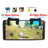 Mobile Game Controller Sensitive Shoot and Aim Triggers Keys L1R1 for PUBG/Knives Out/Rules of Survival, Mobile Gaming Joysticks for Android IOS