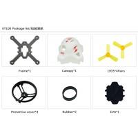 KINGKONG ET100 Carbon Fiber Frame Kit Set Racing Drone Spare Parts