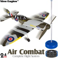 Nine Eagles (NE-R/C-797B-SF) FlyLine Air Combat Complete Flight System 2CH Airplane ARTF (Spit Fire) - 2.4GHz
