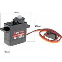Power HD (HD-1900A) Mini / Micro Size High Speed Analog Servo 9G 1.5KG 0.08sec