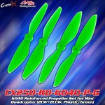 CopterX (CX250-RD-6040-P-G) 6040 Reinforced Propeller Set for Mini Quadcopter (2CW+2CCW, Plastic, Green)