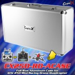 CopterX Full Size Aluminum Case for QAV 250 Mini Racing Drone Quadcopter