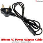 DragonSky (DS-USB-WK) 110mm AC Power Adaptor Cable with Figure 8 Connector (UK)