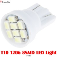DragonSky (DS-LED-SMD-8-W) T10 1206 8SMD LED Light - White