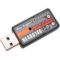 Nine Eagles (NE480146) USB Charger 5V 500mAh for 1S 3.7V Li-Po Battery (MOLWX)