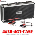DragonSky (4#3B-4G3-CASE) Full size Aluminum Case for Walkera 4#3B+4G3 V2 Brushless 2.4GHz Metal Upgrade RTF Helicopters with Walkera WK-2801E 2.4GHz Transmitter