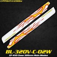 CarbonHobby (BL-320V-C-02W) EP 450 Class 320mm Main Blades