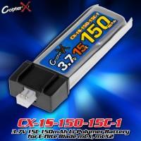 CopterX (CX-1S-150-15C-1) 3.7V 15C 150mAh Li-Polymer Battery for E-flite Blade mCX, mCX2