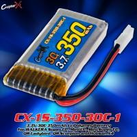 CopterX (CX-1S-350-30C-1) 3.7V 30C 350mAh Li-Polymer Battery for WALKERA Super CP, Mini CP, Mini Super FP, QR Ladybird, QR Scorpion and Hubsan X4