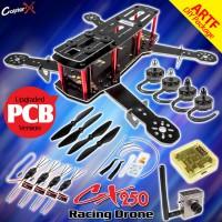 CopterX QAV 250 Mini Racing Drone Quadcopter Kit - Glass Fiber Printed Circuit Board Version DIY Package (Disassembled)