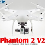 DJI Phantom 2 V2 2.4G with Zenmuse H3-3D