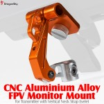 DragonSky (DS-FPV-MM-V-O) CNC Aluminium Alloy FPV Monitor Mount for Transmitter with Vertical Neck Strap Eyelet (Orange)