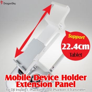 DragonSky (DS-INSPIRE1-P3-P4-TX-EX) Mobile Device Holder Extension Panel for DJI Inspire 1, Phantom 3 and Phantom 4 Transmitter