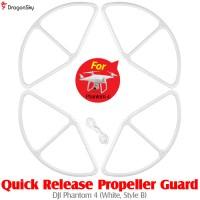 DragonSky (DS-P4-PG-QR-W-B) Quick Release Propeller Guard for DJI Phantom 4 (White, Style B)