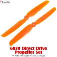 DragonSky 6030 Direct Drive Propeller Set for Mini Multicopter (Plastic, Orange)