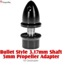 DragonSky (DS-PROP-B-3.17-5MM-BK) Bullet Style 3.17mm Shaft 5mm Propeller Adapter for Quadcopter (Black)