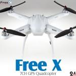 Free X SkyView 7CH GPS Quadcopter RTF (White, Mode 2) - 2.4GHz