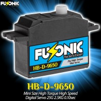 Fusonic (HB-D-9650) Mini Size High Torque High Speed Digital Servo 25G 2.5KG 0.10sec