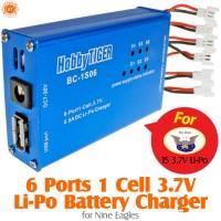 HobbyTiger 6 Ports 1S 3.7V Nine Eagles Li-Po Battery Charger