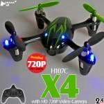 Hubsan H107C X4 720P HD Camera Quadcopter (Black Green, Mode1)
