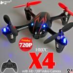 Hubsan H107C X4 720P HD Camera Quadcopter (Black Red, Mode2)