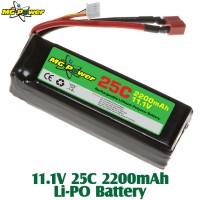 MG Power (MG-111-25-2200) 11.1V 25C 2200mAh Li-PO Battery