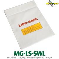 MG-Power (MG-LS-SWL) LIPO-SAFE Charging / Storage Bag (White / Large)