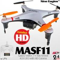 Nine Eagles (NE-MASF11-BW) Galaxy Visitor 2 9 Axis Gyro 4CH UFO with HD Camera and JFN SLT Transmitter RTF (Black White) - 2.4GHz