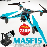 Nine Eagles Galaxy Visitor 6 4CH FPV Quadcopter (Blue, Mode 1)