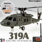 Nine Eagles (NE-R/C-319A-BHAWK60-BG-GL) SOLO PRO 319 B.Hawk 60 3 Axis Gyro 6CH 4-Blade Helicopter with General Link ARTF (Blackish Green) - 2.4GHz