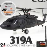 Nine Eagles (NE-R/C-319A-BHAWK60-BK-GL) SOLO PRO 319 B.Hawk 60 3 Axis Gyro 6CH 4-Blade Helicopter with General Link ARTF (Black) - 2.4GHz