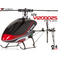 WALKERA NEW V120D02S Flybarless 6-Axis-Gyro System 6CH Helicopter For DEVO Transmitter (TX not included) ARTF (Red) - 2.4GHz