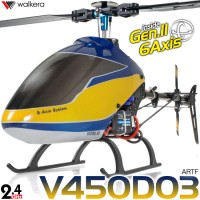 WALKERA V450D03 3D 6 Axis Gyro 6CH Brushless Helicopter without Transmitter ARTF - 2.4GHz
