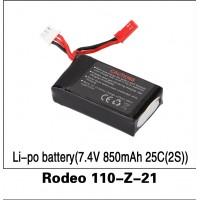 Walkera (Rodeo 110-Z-21) Li-po battery(7.4V 850mAh 25C(2S))